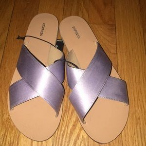 Purple sandals!
